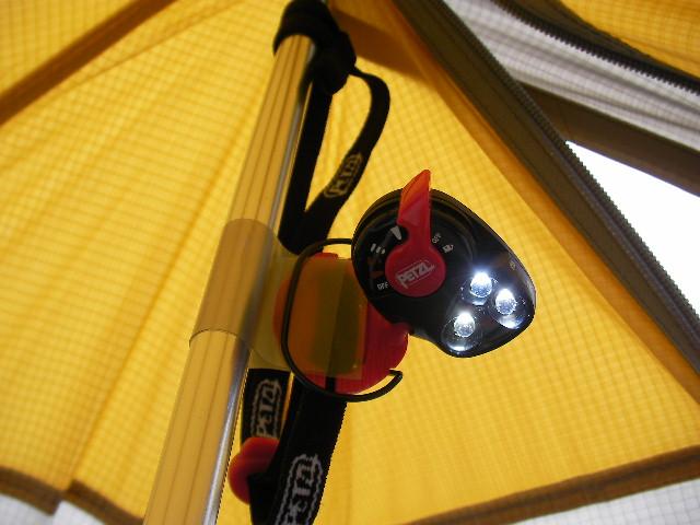 Sierra Designs Origami 2 Ultralight Tent //       ワンポールにライトを付ける_f0113727_615112.jpg