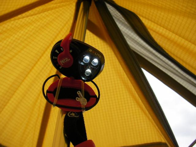 Sierra Designs Origami 2 Ultralight Tent //       ワンポールにライトを付ける_f0113727_6154062.jpg