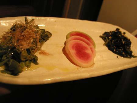 バンチキロウの宮古野菜の盛り合わせ。_f0053279_3204942.jpg