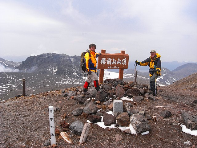 4月29日、風不死岳と樽前山_f0138096_1921328.jpg