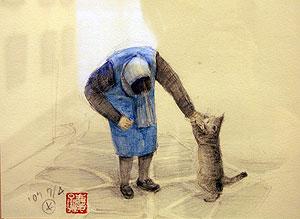 竹内慶子氏絵画展レポート<アクティブライフ豊中/介護付有料老人ホーム>_c0107602_1331576.jpg