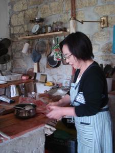 山の食卓和食編~牛肉のせサラダうどん_f0106597_17332273.jpg