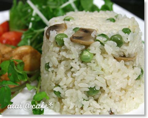 えんどう豆のバターライス_a0056451_12145815.jpg