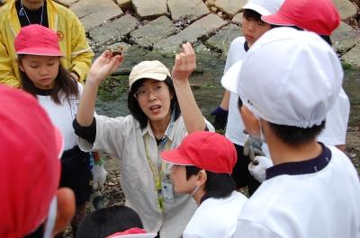 箱作小学校4年学習サポート「田山川の水生生物観察」_c0108460_21472470.jpg