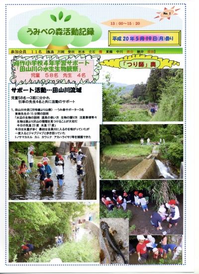箱作小学校4年学習サポート「田山川の水生生物観察」_c0108460_2347025.jpg