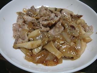 豚きのこ炒め_c0025217_2144244.jpg