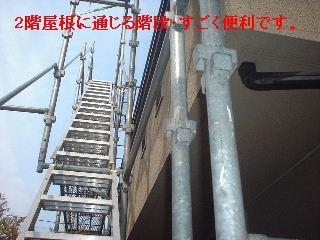 屋根の高圧洗浄作業_f0031037_160111.jpg