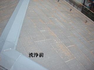 屋根の高圧洗浄作業_f0031037_1623395.jpg