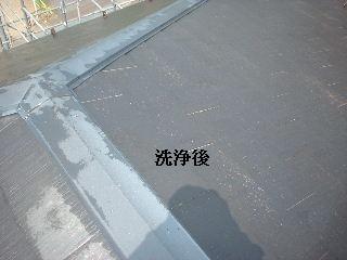 屋根の高圧洗浄作業_f0031037_1635838.jpg