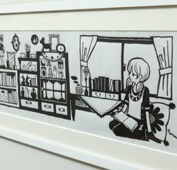 村上トモミ イラスト展〜「ときめきのひとかけら」〜はじまってます!_a0017350_921550.jpg