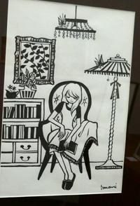 村上トモミ イラスト展〜「ときめきのひとかけら」〜はじまってます!_a0017350_99372.jpg