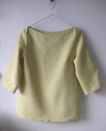 黄色いリネンのブラウス_c0077384_7532892.jpg