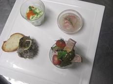 先日埼玉から来られたアレコレーノのシェフと川ガニさんにお出ししたコース料理です。_b0139176_2347273.jpg