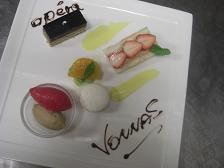 先日埼玉から来られたアレコレーノのシェフと川ガニさんにお出ししたコース料理です。_b0139176_23552422.jpg