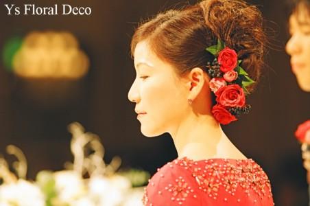 クラシカルなドレス 赤ブーケ_b0113510_0315023.jpg