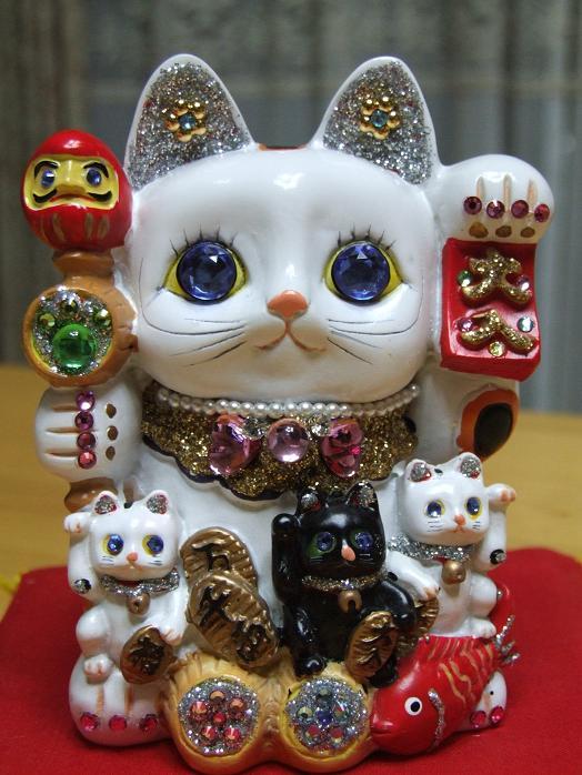 キラキラ親子招き猫_b0089338_23335310.jpg