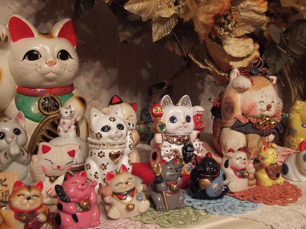 キラキラ親子招き猫_b0089338_23342976.jpg