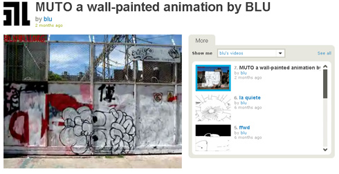 MUTO a wall-painted animation by BLU