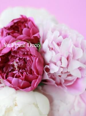 ピンク 芍薬ブーケ_b0113510_0121837.jpg