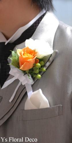 白とオレンジ ブーケ&髪飾り_b0113510_2358877.jpg