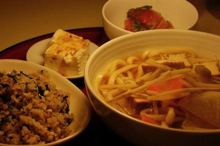 お豆腐のネバネバうどん_e0110659_11144748.jpg