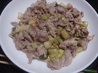 豚肉とセロリのマヨネーズ炒め_c0025217_20135087.jpg
