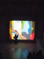 新津美術館でやまなしの朗読×ライブペイント_e0031142_1548190.jpg