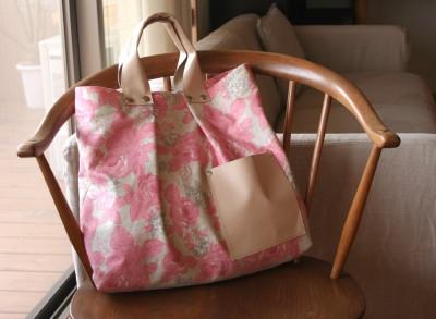 ピンクの花が咲いた、咲いたバッグ_a0102486_17131994.jpg