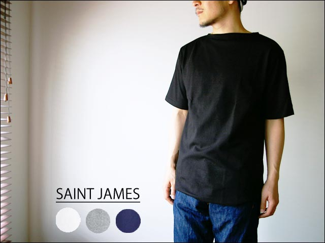 saint james/セントジェームス ボートネック無地Tシャツ_f0051306_2239548.jpg