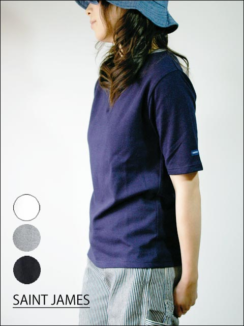 saint james/セントジェームス ボートネック無地Tシャツ_f0051306_22402546.jpg