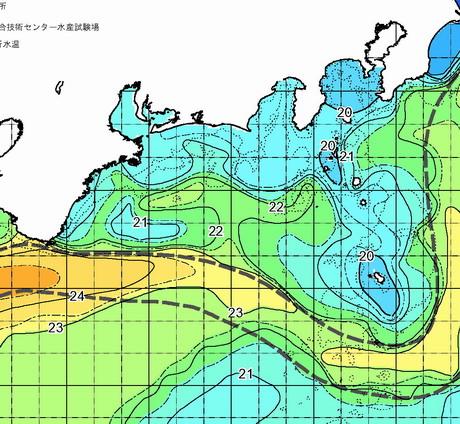 遠州灘沖に潮が広がり、新たな24度の枝流が勝浦西志摩の南に![カジキ・マグロトローリング]_f0009039_2112416.jpg