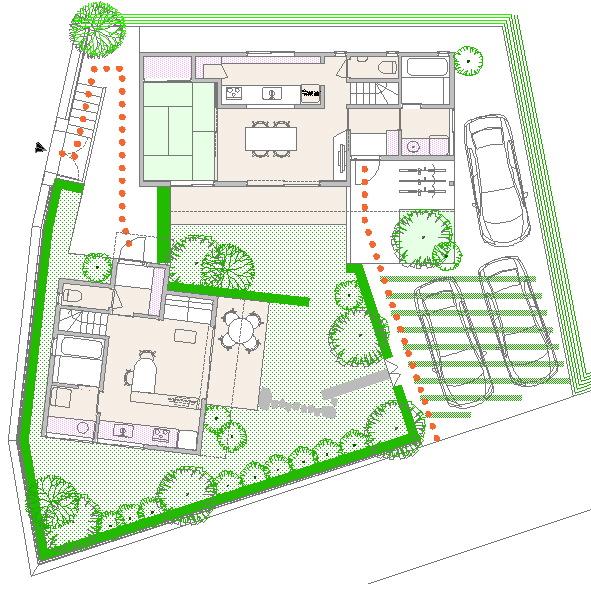 二世帯住宅の平面図_d0138618_7565474.jpg