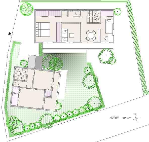 二世帯住宅ー2階平面図_d0138618_6394932.jpg