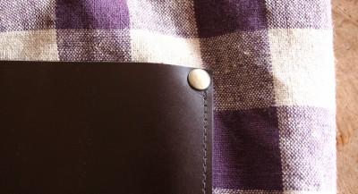 プラム色ギンガムの肩掛けバッグ_a0102486_1532110.jpg