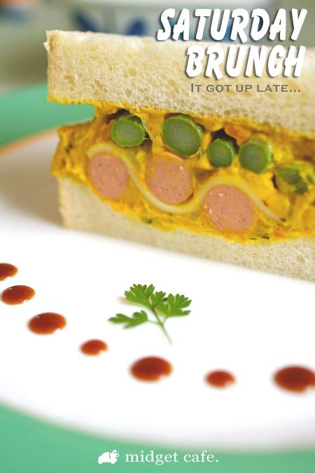 カボチャサラダサンドイッチ【断面で模様が描きたくて】 で震度5+かよ!