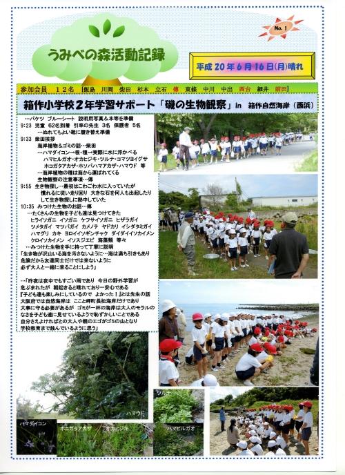 箱作小学校2年学習サポート…箱作自然海岸(西浜)_c0108460_17102486.jpg