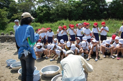 箱作小学校2年学習サポート…箱作自然海岸(西浜)_c0108460_1731633.jpg