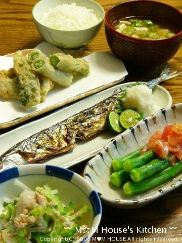 秋刀魚のグリル焼きにシークヮーサーをキュッと絞って♪_c0139375_17212435.jpg