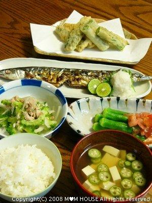 秋刀魚のグリル焼きにシークヮーサーをキュッと絞って♪_c0139375_17271433.jpg