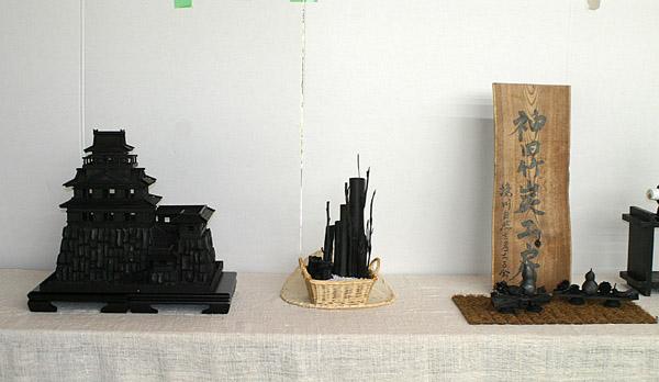 炭の芸術展示品_e0122208_8234643.jpg