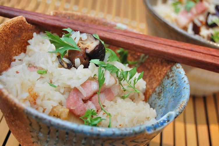 しいたけ風味が美味しい☆ベーコンの炊き込みご飯♪中華おこわ風☆_d0104926_6425911.jpg