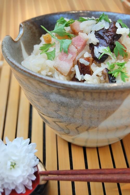 しいたけ風味が美味しい☆ベーコンの炊き込みご飯♪中華おこわ風☆_d0104926_6552379.jpg