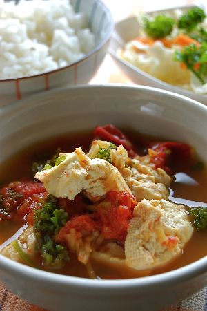 トマト豆腐のコトコト生姜煮_e0110659_1033162.jpg