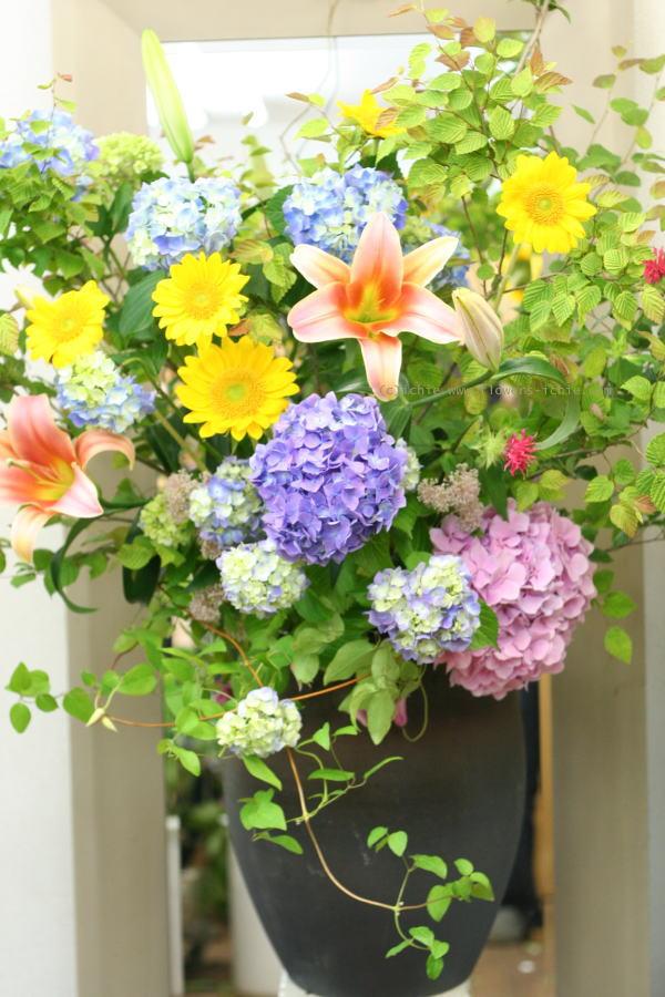 単発生花レッスン 7月10日 花瓶に活ける初夏の花報告_a0042928_21455114.jpg