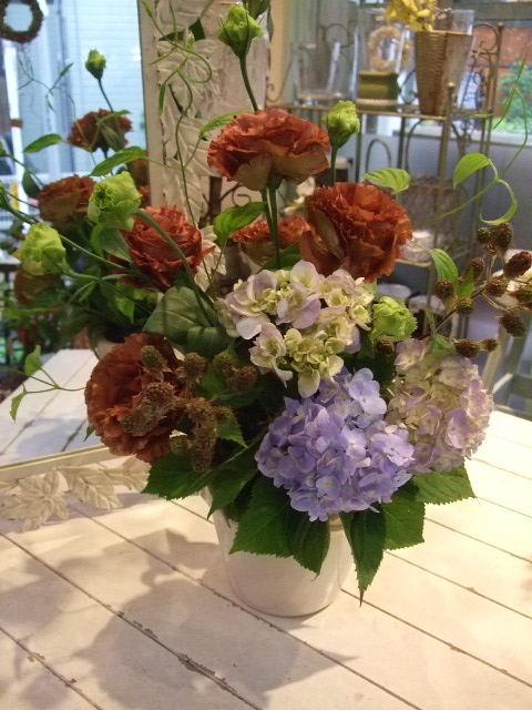 オークリーフ花の教室(梅雨の季節に)_f0049672_1805922.jpg