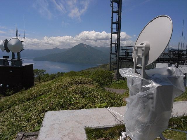 6月25日、紋別岳頂上にもサミット警備_f0138096_15571782.jpg
