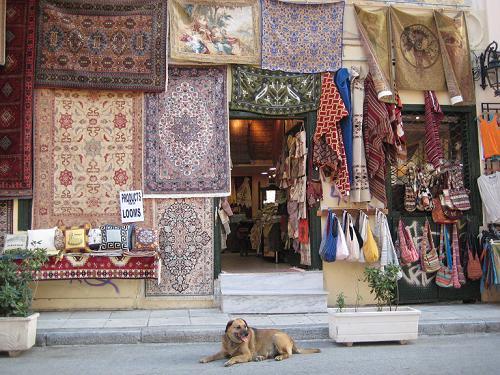 絨毯やさんの店先にいたカネロ_f0037264_5523874.jpg
