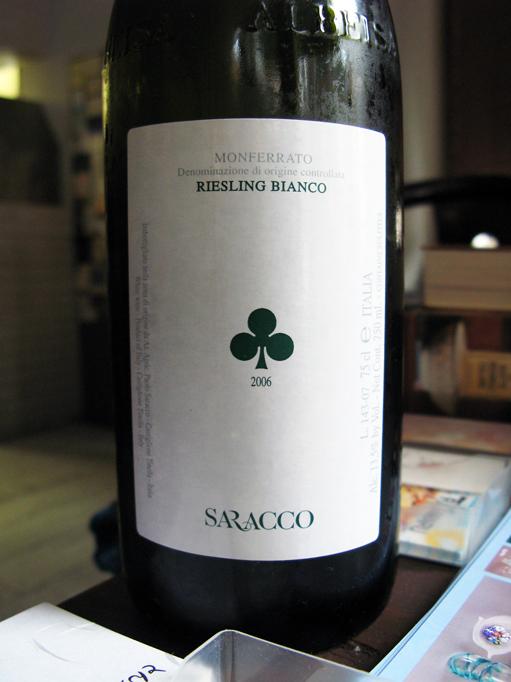 リースリング・ビアンコ [2006] サラッコ_c0153426_17504874.jpg