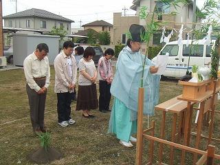 今日は尾島町亀岡で〇木様の地鎮祭が行われました。_a0084859_1445542.jpg