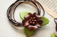 leather flower hair band & pin _c0118809_15272882.jpg